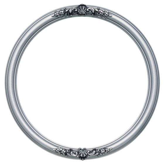 Contessa Round Frame # 554 - Silver Spray