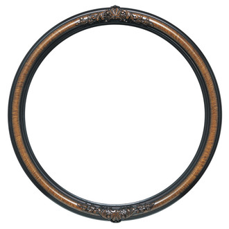 Vintage round picture frames shop for antique wooden picture frames contessa round frame 554 vintage walnut thecheapjerseys Images