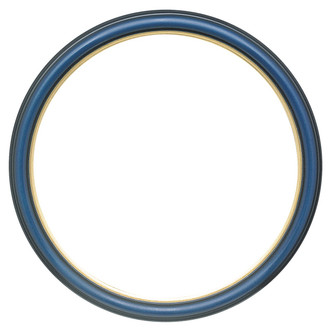 Hamilton Round Frame # 551 - Royal Blue with Gold Lip