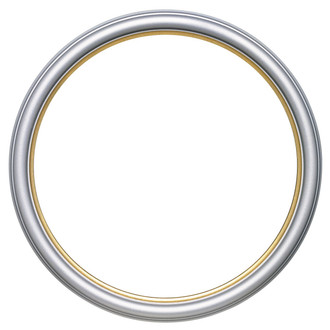 Hamilton Round Frame # 551 - Silver Spray with Gold Lip