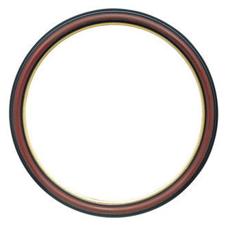 Hamilton Round Frame # 551 - Vintage Cherry with Gold Lip