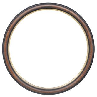 Hamilton Round Frame # 551 - Vintage Walnut with Gold Lip