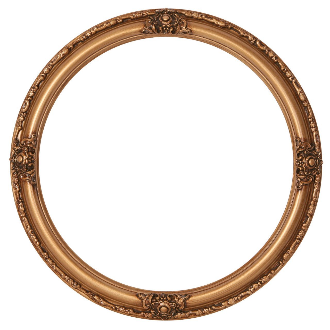 round frame in gold paint finish gold picture frames. Black Bedroom Furniture Sets. Home Design Ideas