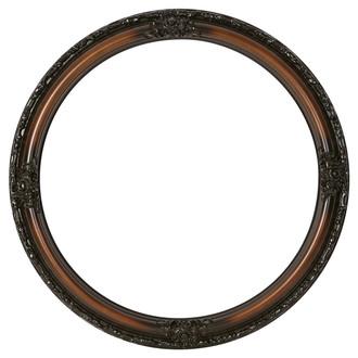 Jefferson Round Frame # 601 - Walnut