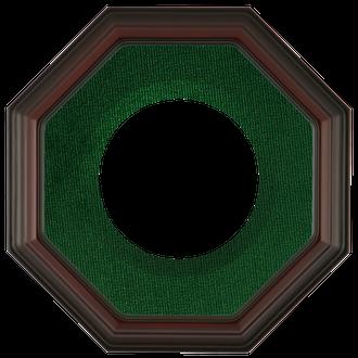 Collector Plate Frame #351 - Rosewood (Green Velvet)