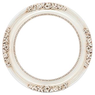 Versailles Round Frame # 603 - Antique White