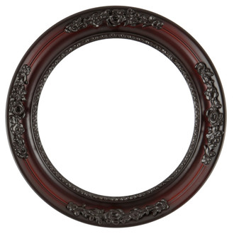 Versailles Round Frame # 603 - Rosewood