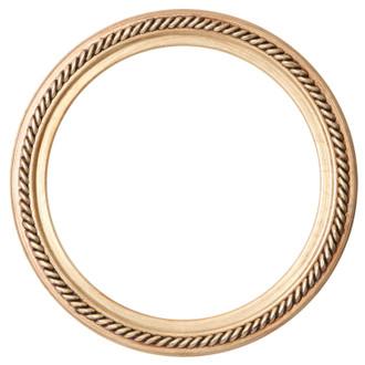 Santa Fe Round Frame # 604 - Gold Leaf
