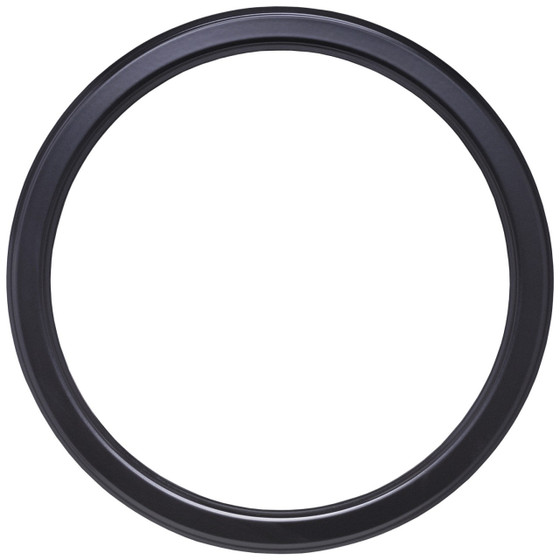 Round Frame in Gloss Black Finish| Simple Shinny Black Wooden ...