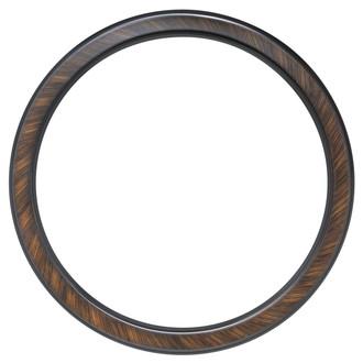 Toronto Round Frame # 810 - Vintage Walnut