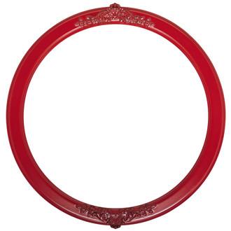 Athena Round Frame # 811 - Holiday Red