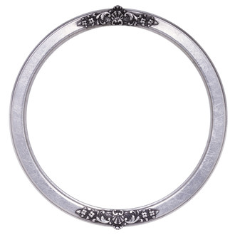 Athena Round Frame # 811 - Silver Leaf with Black Antique