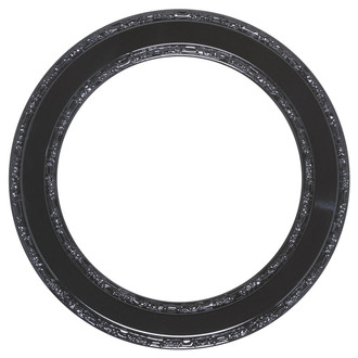 Monticello Round Frame # 822 - Gloss Black