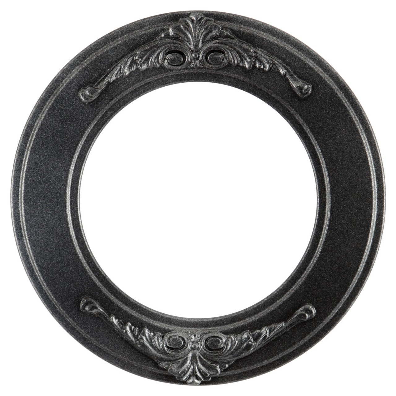 Round Frame in Black Silver Finish| Ornate Decals on Flat Profile ...