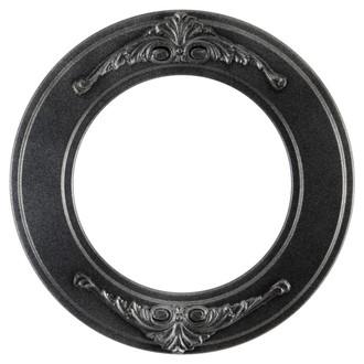Ramino Round Frame # 831 - Black Silver