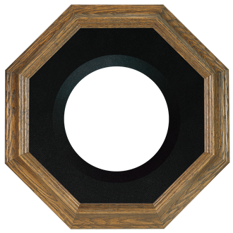 Collector Plate Frame #351 - Toasted Oak (Black Velvet)