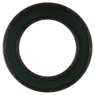 Paris Round Frame # 832 - Hunter Green
