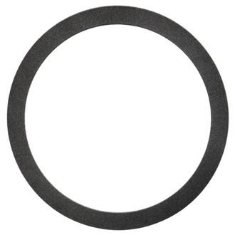 Manhattan Round Frame # 851 - Black Silver