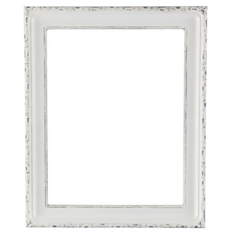 Kensington Rectangle Frame # 401 - Linen White