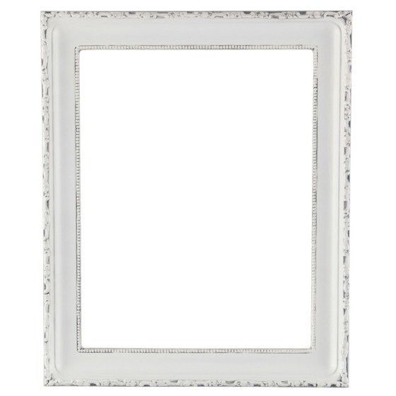 Rectangle Frame in Linen White Finish| Antique White Picture Frames