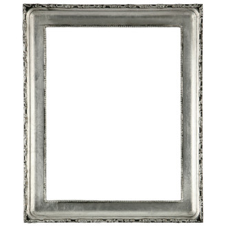 Kensington Rectangle Frame # 401 - Silver Leaf with Black Antique