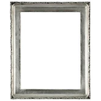 white antique picture frames. Kensington Rectangle Frame # 401 - Silver Leaf With Black Antique White Picture Frames 1