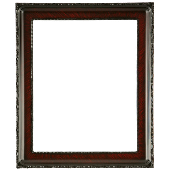 Rectangle Frame in Vintage Cherry Finish Antique ...