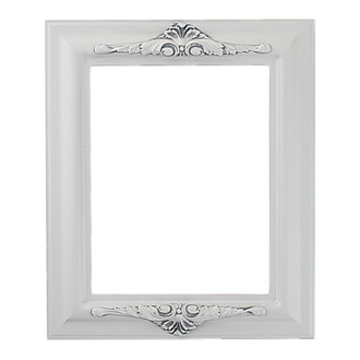 Winchester Rectangle Frame # 451 - Linen White