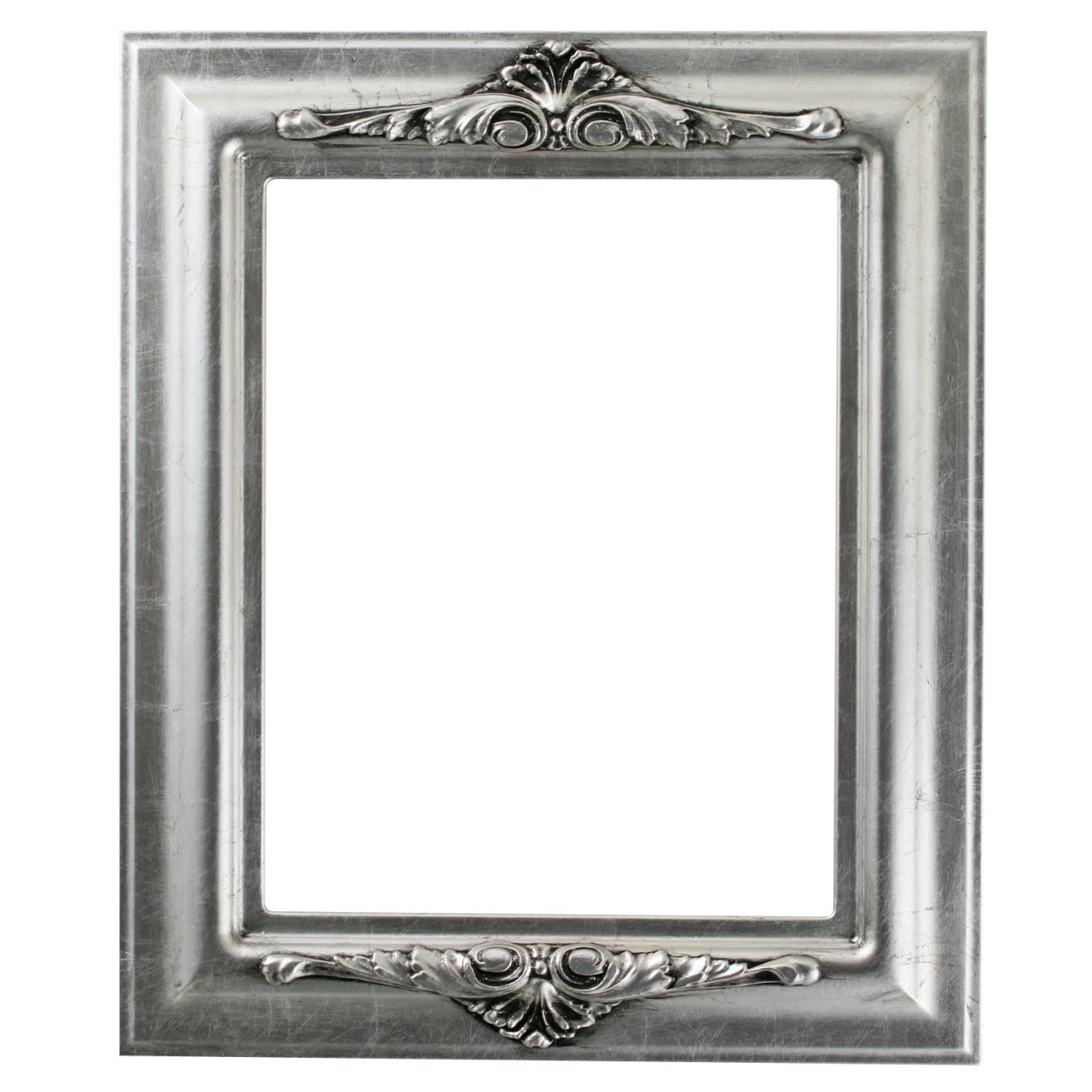 Rectangle Frame In Silver Leaf Finish With Black Antique