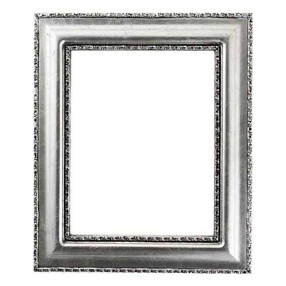 Rectangle Frame in Silver Leaf Finish with Black Antique| Vintage ...