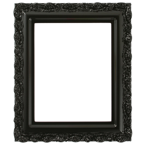 Rectangle Frame in Gloss Black Finish  Black Picture Frames with ...