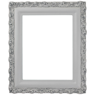 Venice Rectangle Frame # 454 - Linen White