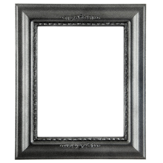 Rectangle Frame in Black Silver Finish| Black Wooden Picture Frames
