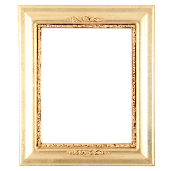 Rectangle Frame in Gold Leaf Finish| Antique Gold Wooden Picture Frames