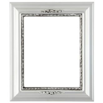 Boston Rectangle Frame # 457 - Silver Spray