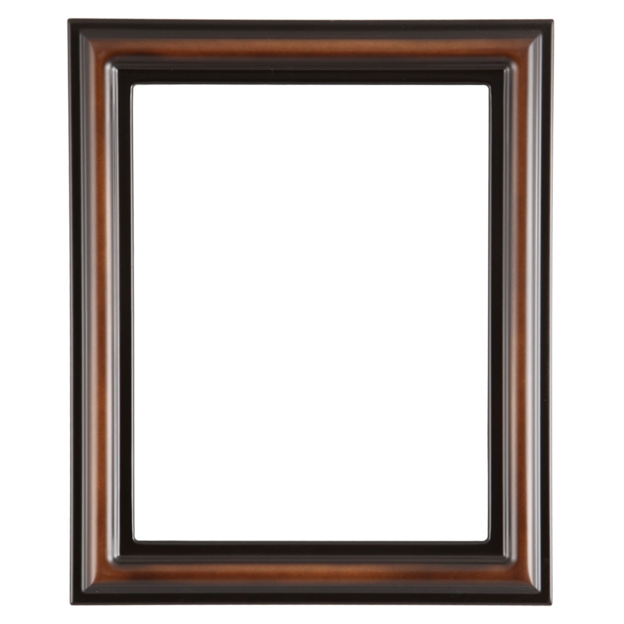 Rectangle Frame In Walnut Finish Vintage Rectangle Brown
