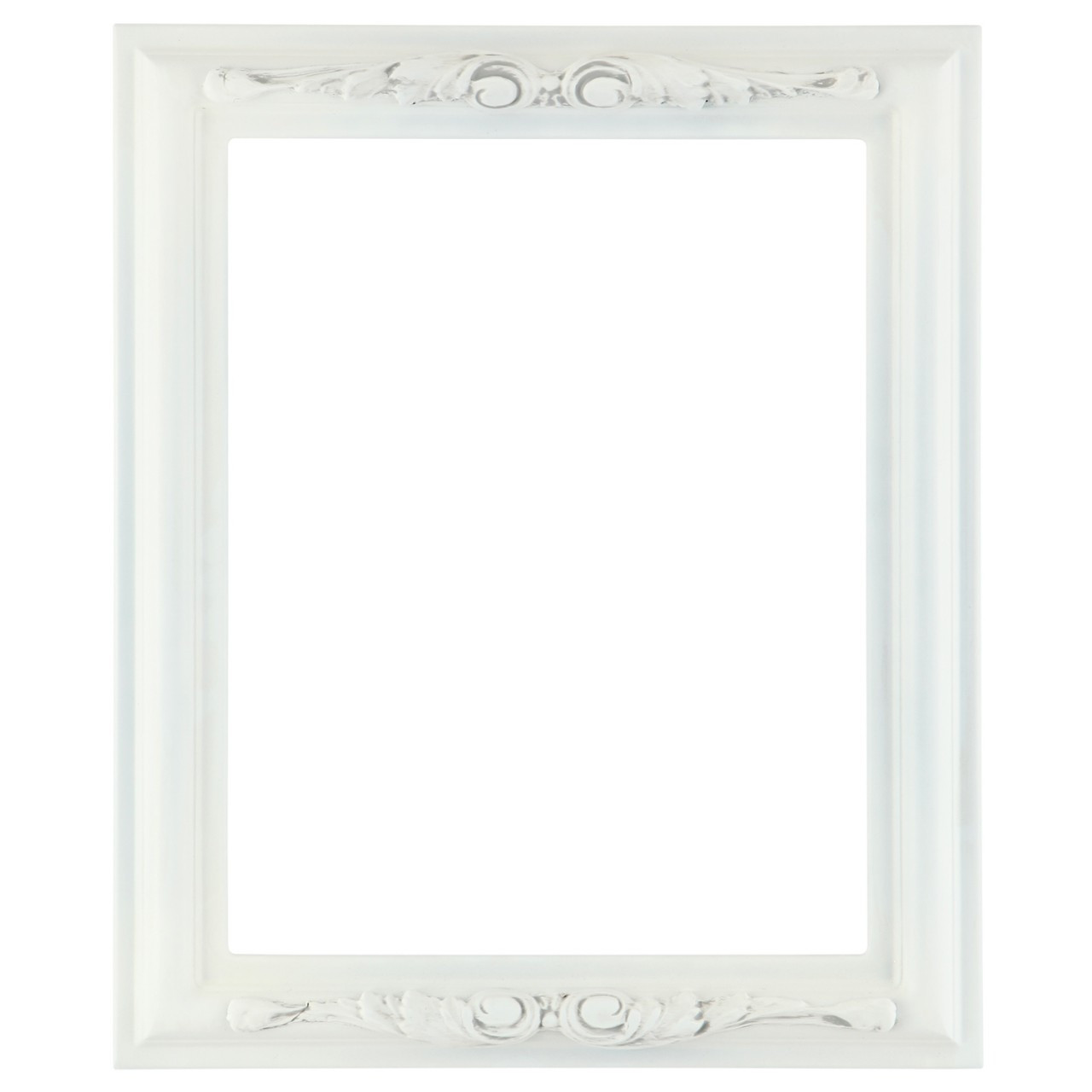 Rectangle Frame In Linen White Finish Antique White