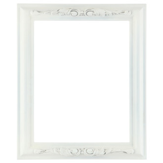 Florence Rectangle Frame # 461 - Linen White