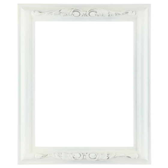 florence rectangle frame 461 linen white - White Picture Frames
