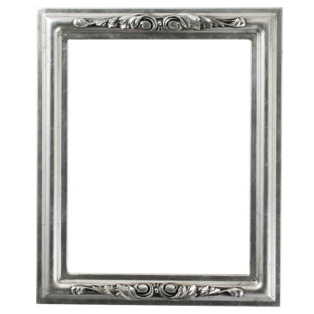 Rectangle Frame in Silver Leaf Finish with Black Antique ...