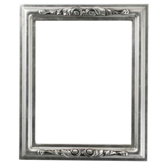 black antique picture frames. Florence Rectangle Frame # 461 - Silver Leaf With Black Antique Picture Frames L