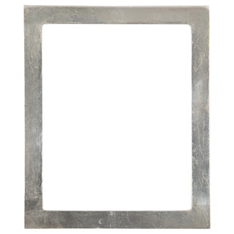 Vienna Rectangle Frame # 481 - Silver Leaf with Brown Antique