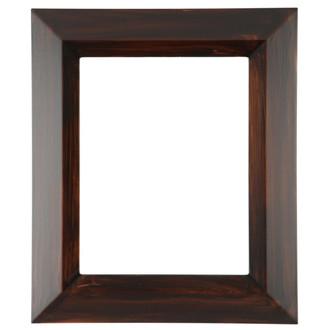 black wood frame. Veneto Rectangle Frame # 485 - Mocha Black Wood E