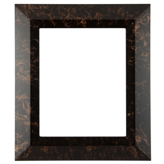 Rectangle Frame In Veined Onyx Finish Vintage Picture