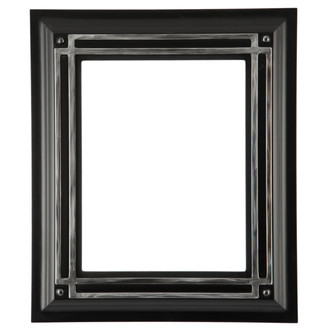Imperial Rectangle Frame # 490 - Matte Black with Silver Lip
