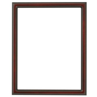 Saratoga Rectangle Frame # 550 - Rosewood