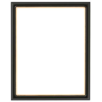 Hamilton Rectangle Frame # 551 - Matte Black with Gold Lip