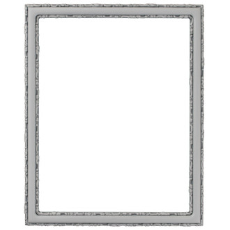 Virginia Rectangle Frame # 553 - Linen White