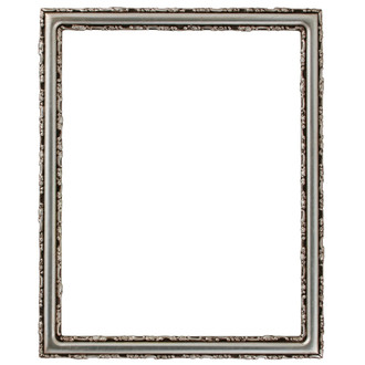 Virginia Rectangle Frame # 553 - Silver Leaf with Brown Antique