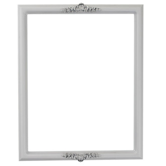 Contessa Rectangle Frame # 554 - Linen White
